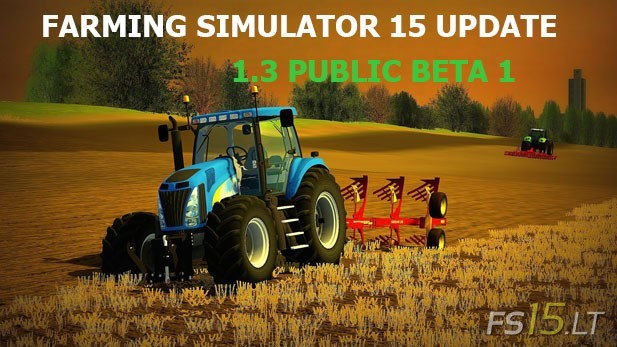Farming Simulator 15 Update 1.3 Public Beta 1