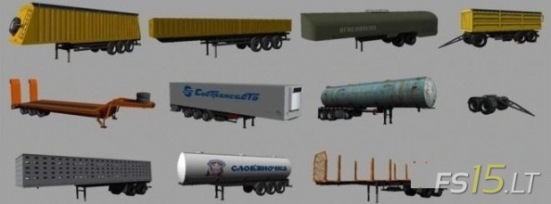 Kraz Semi Trailers Pack