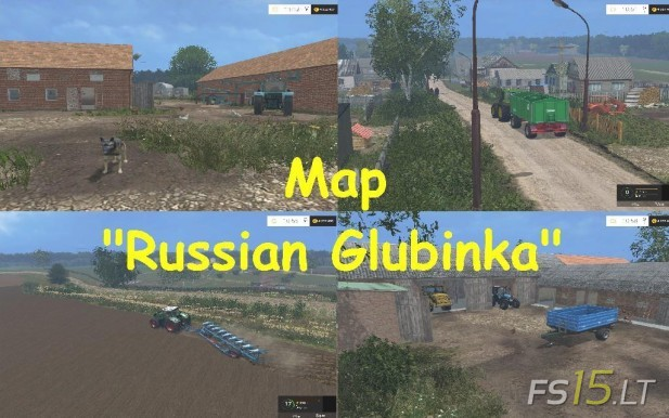Russian Glubinka Map