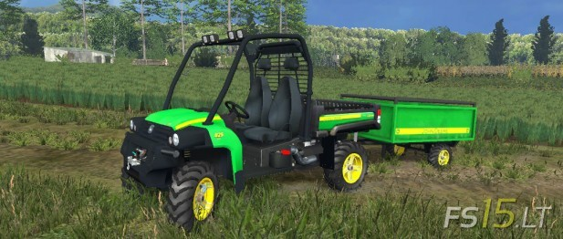 John Deere Gator with Trailer (1)