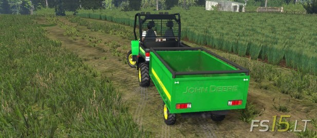 John Deere Gator with Trailer (2)