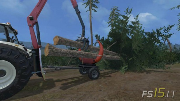 Wood-Klemmbank-Trailer