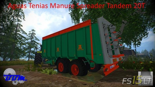 Aguas-Tenias-Manure-Spreader-Tandem