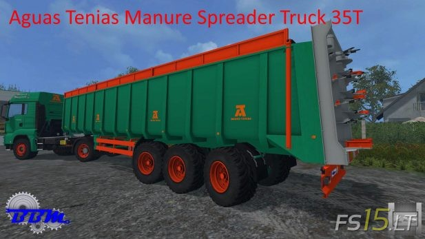 Aguas-Tenias-Manure-Spreader-Truck-35T